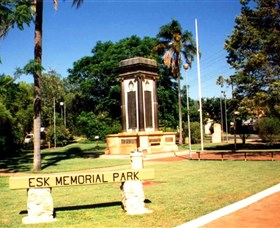 Esk War Memorial and Esk Memorial Park - VIC Tourism