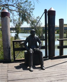 Captain John Egge Statue - VIC Tourism