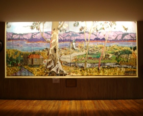 Adaminaby Memorial Hall Stage Curtain - VIC Tourism