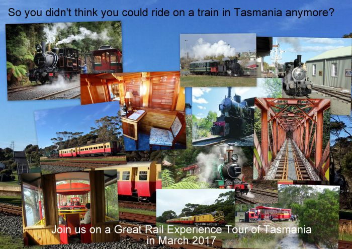 Great Rail Experiences  Tasmania Tour 2017 - VIC Tourism