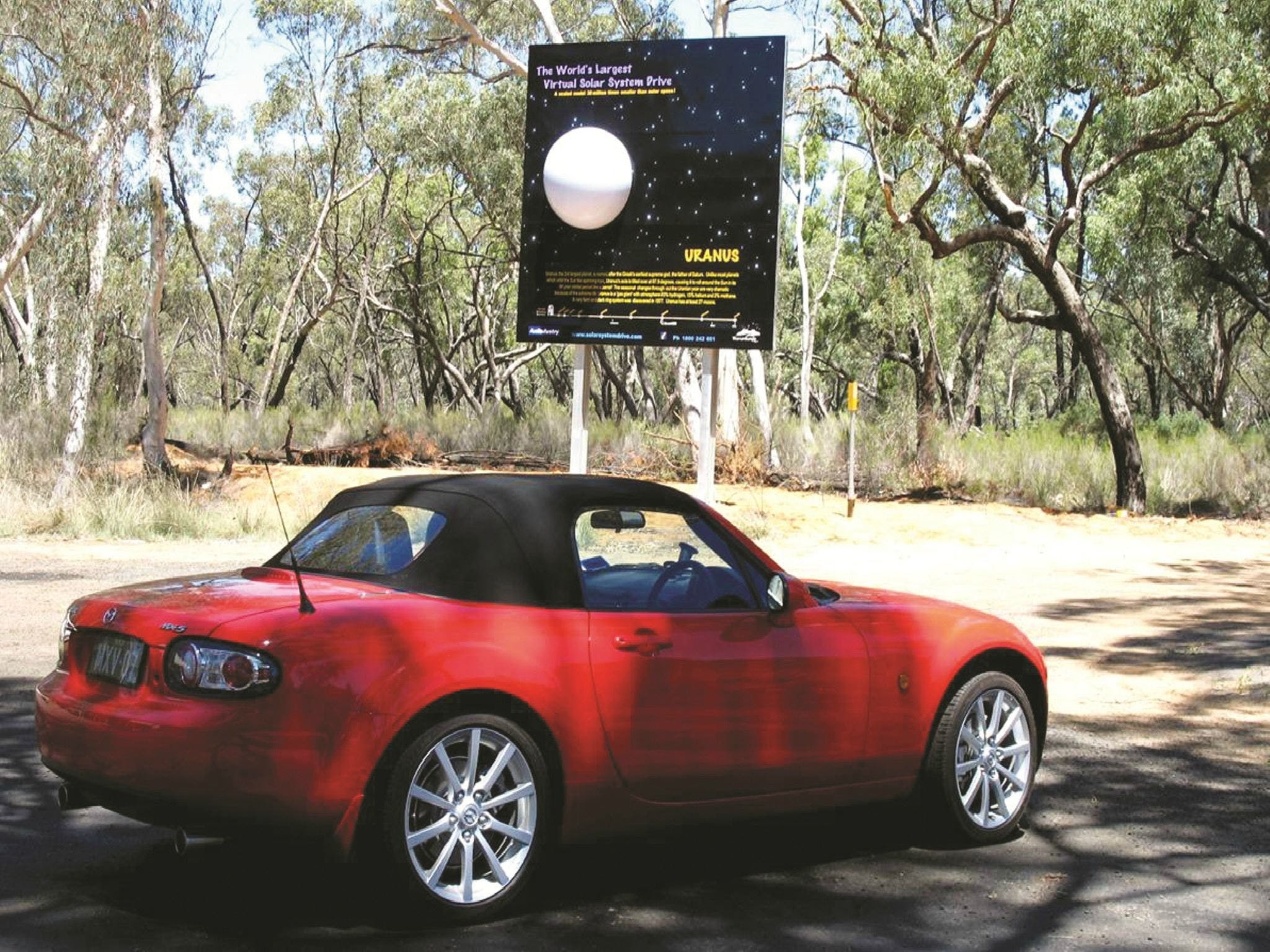 Worlds Largest Virtual Solar System Drive - VIC Tourism