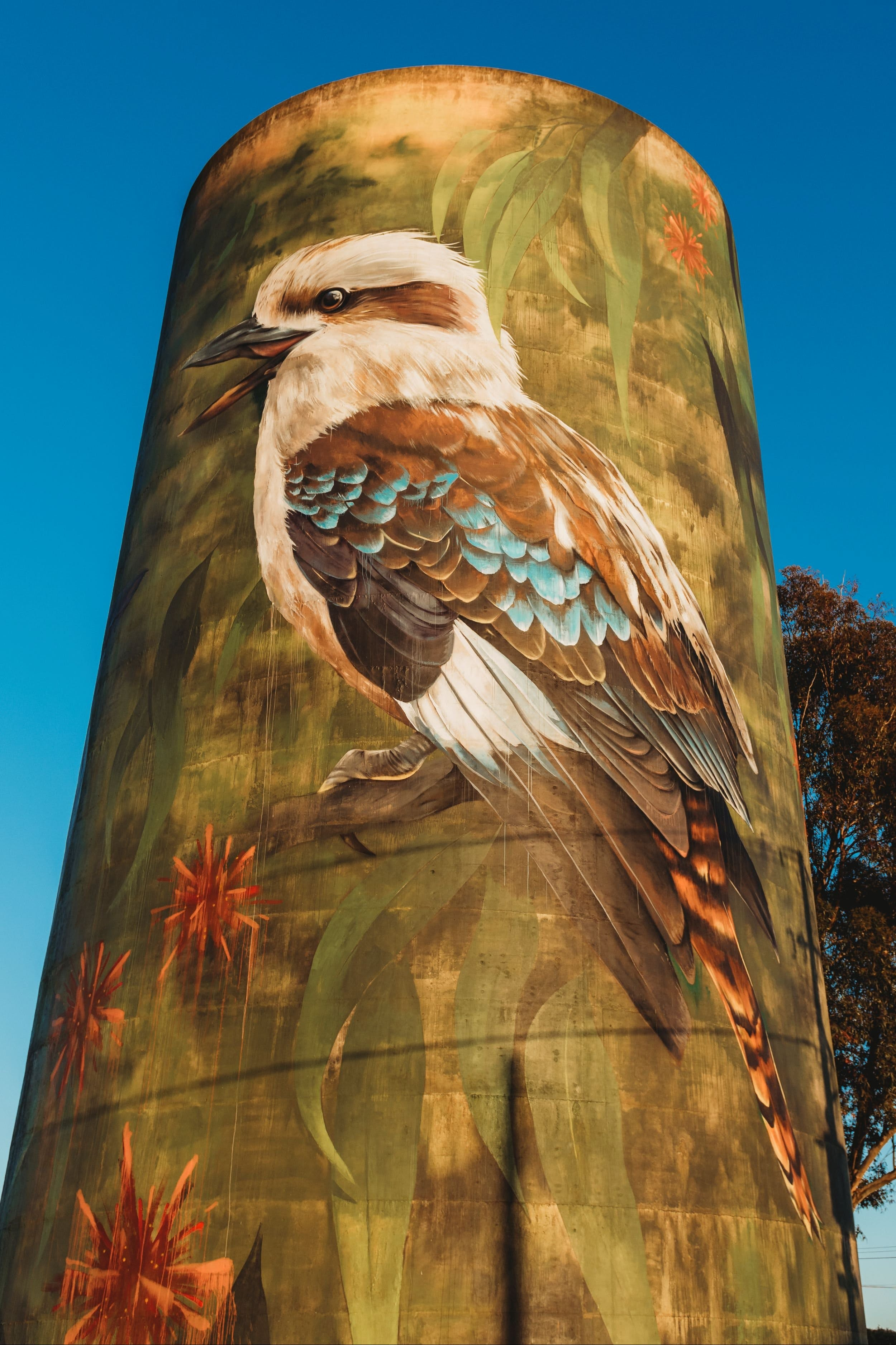 Deniliquin Water Tower Mural - VIC Tourism