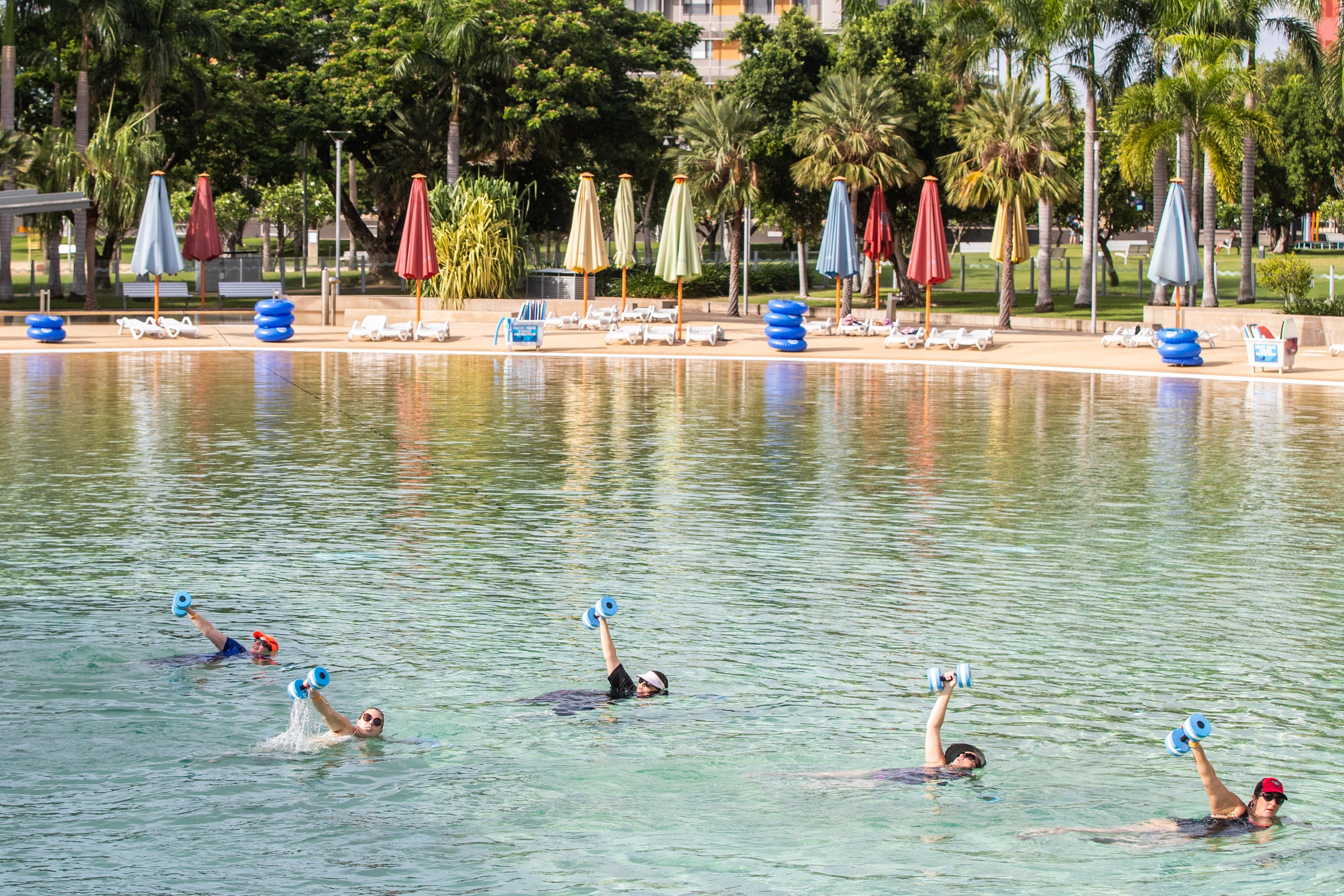Aqua fitness in the Wave Lagoon - VIC Tourism