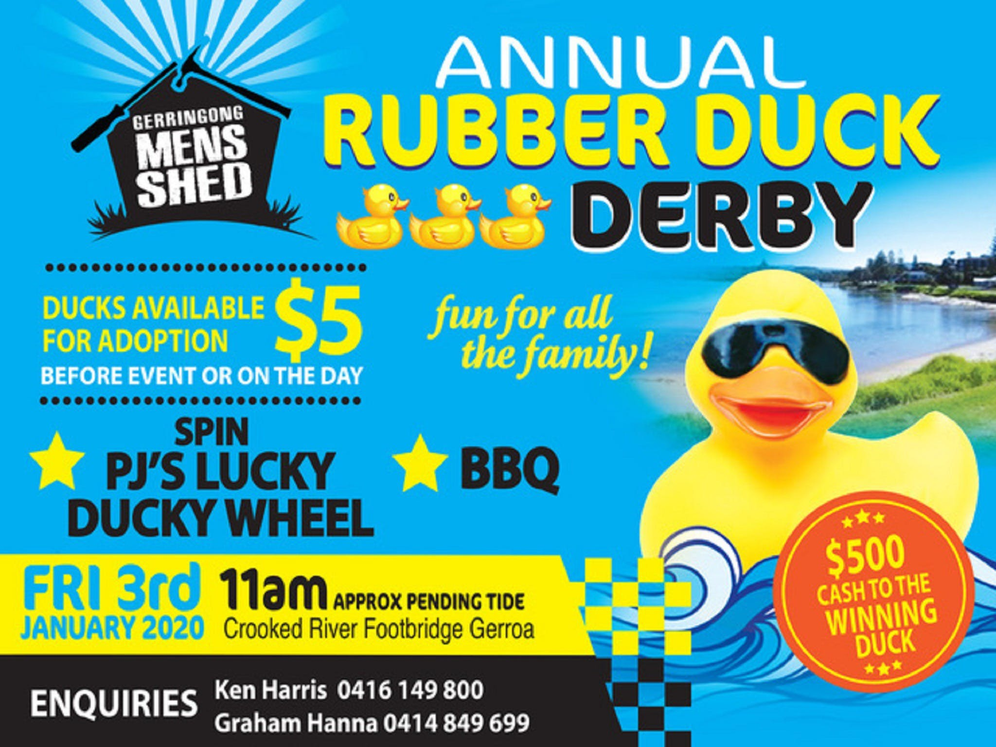 Gerringong Mens Shed Annual Duck Derby - VIC Tourism