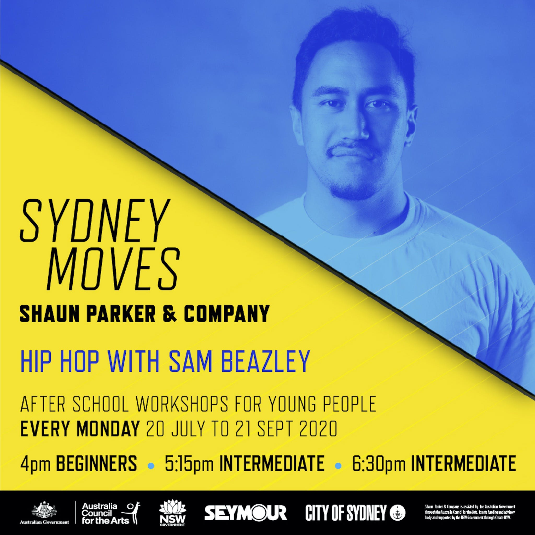 Sydney Moves - All Ages Intermediate Hip Hop with Sam Beazley - VIC Tourism