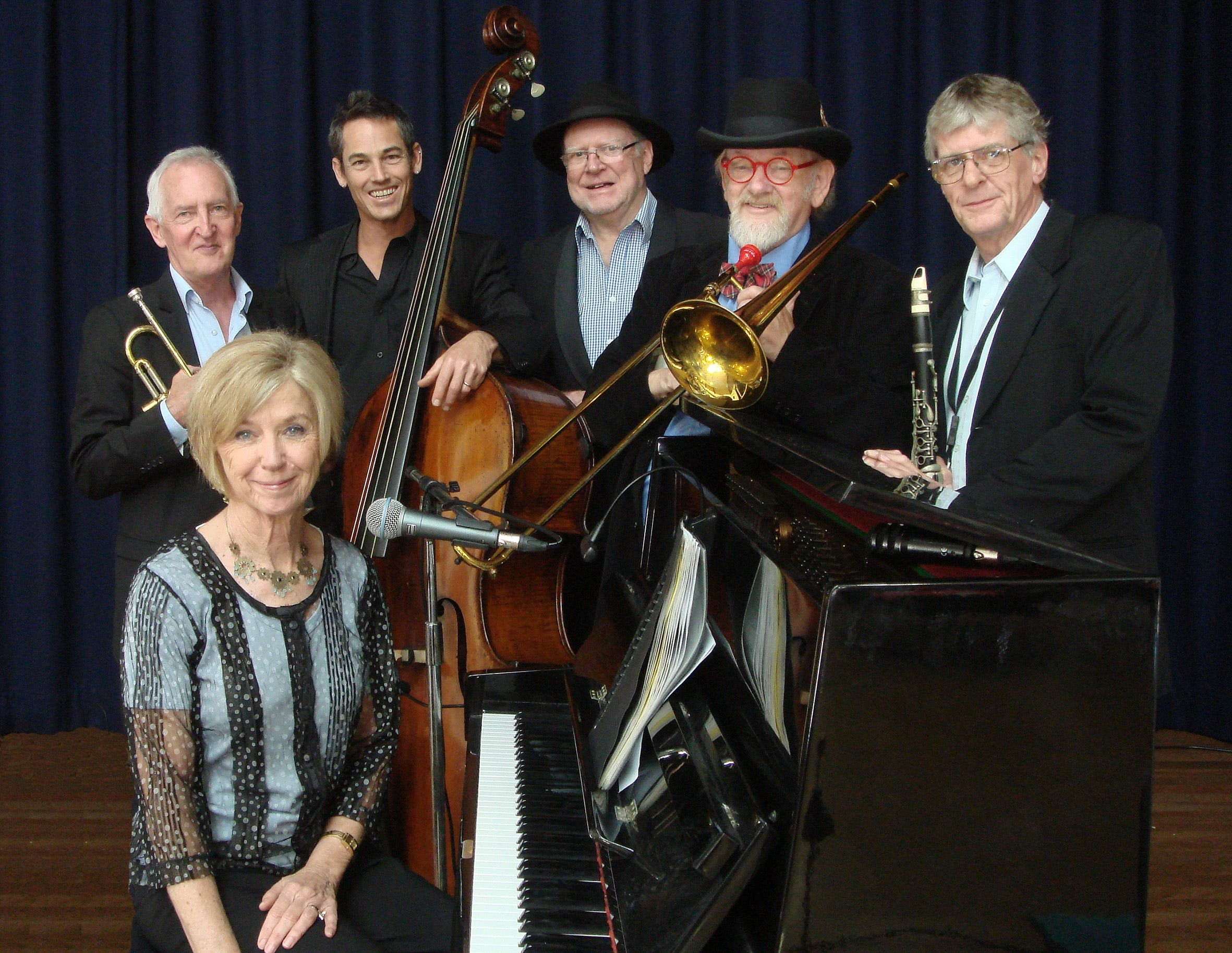 The Caxton Street Jazz Band in the Swigmore Hall at Robert Channon Wines - VIC Tourism